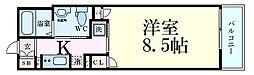 ファーストフィオーレ梅田イースト 3階1Kの間取り