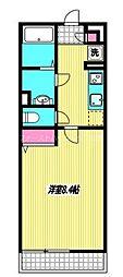 西武新宿線 西武柳沢駅 徒歩13分の賃貸マンション 3階1Kの間取り