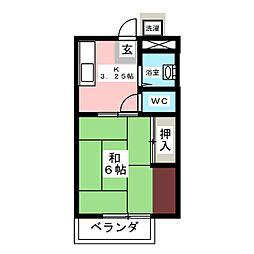 ワイズフラッツ末広[2階]の間取り