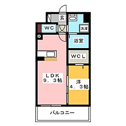 modern palazzo HAKATA riva II[8階]の間取り