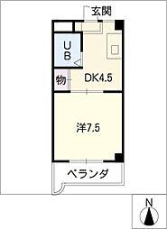 モナーク安井[3階]の間取り