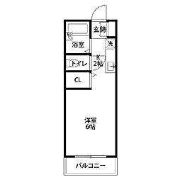 オオタマンション[102号室]の間取り