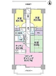 東急ドエル・アルス津田沼東[8階]の間取り
