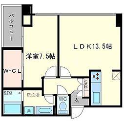 アステリオ北堀江ザメトロタワー[14階]の間取り