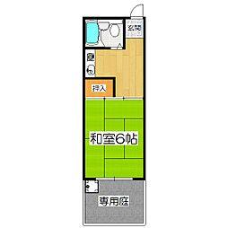 セジュール花山[1階]の間取り
