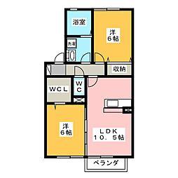 ルミエールR[2階]の間取り
