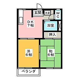 コートビレッジA[2階]の間取り