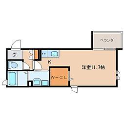 静岡鉄道静岡清水線 新静岡駅 徒歩12分の賃貸マンション 1階ワンルームの間取り