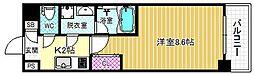 S-FORT福島Libre 7階1Kの間取り