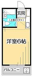 西国分寺サンハウスIII[2階]の間取り