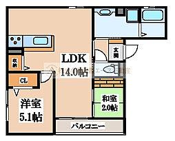 仮)D-room新金岡町5丁[3階]の間取り