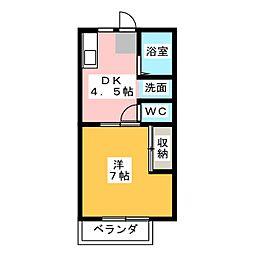 イーストヒルズ松井[1階]の間取り