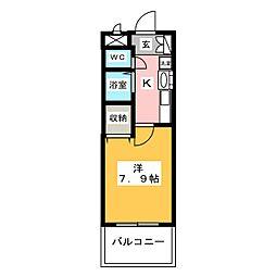 プレサンス栄メディパーク 205[2階]の間取り