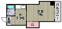 WEST VILLAGE[2階]の間取り
