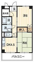 香川県高松市城東町2丁目の賃貸マンションの間取り