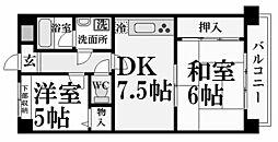 セザール香枦園[1階]の間取り