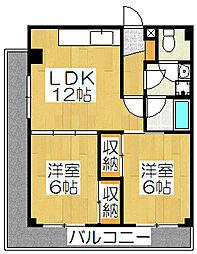 竹鼻ハイツ[3階]の間取り