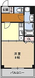 PINE館I[201号室号室]の間取り