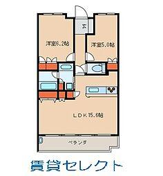 エクセレント松戸グレースフォート[203号室]の間取り