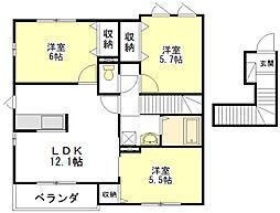 オリーブ・ハウス[2階]の間取り