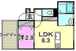 メゾン小坂[E106 号室号室]の間取り