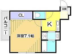 東京都東村山市本町4丁目の賃貸アパートの間取り