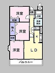 埼玉県草加市谷塚町の賃貸マンションの間取り