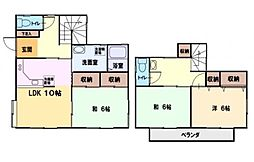[一戸建] 神奈川県藤沢市大庭 の賃貸【神奈川県 / 藤沢市】の間取り