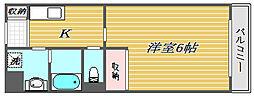 東京都練馬区錦2丁目の賃貸マンションの間取り