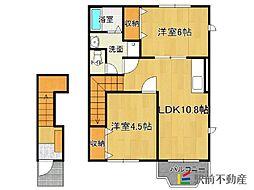 福岡県福岡市東区香椎台5丁目の賃貸アパートの間取り