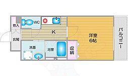南海線 天下茶屋駅 徒歩7分の賃貸マンション 4階1Kの間取り