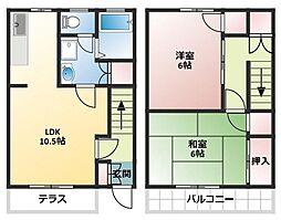 [テラスハウス] 千葉県船橋市行田1丁目 の賃貸【/】の間取り