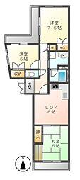 キャスティル4[2階]の間取り