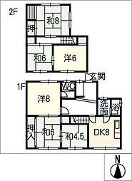 [一戸建] 愛知県名古屋市東区白壁3丁目 の賃貸【愛知県 / 名古屋市東区】の間取り