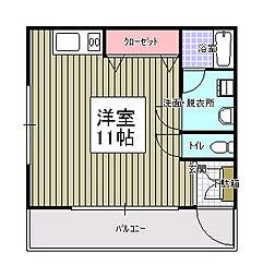 新田代アパート[102号室]の間取り