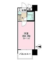 東京都台東区東上野2丁目の賃貸マンションの間取り