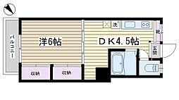 八木沢コーポラス[301号室]の間取り