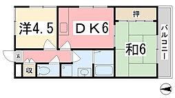 セントレージ[302号室]の間取り