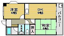 高師浜シーサイドマンション2[301号室]の間取り