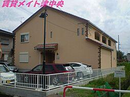 三重県津市幸町の賃貸アパートの外観