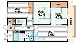 ミュー高麗橋[5階]の間取り