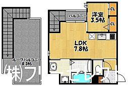 Grandticサンメゾン博多I[2階]の間取り