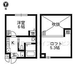 サンリッチ京都駅Ⅱ[202号室]の間取り