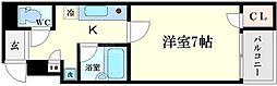クレシア日本橋[6階]の間取り