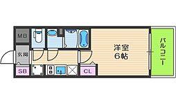 Osaka Metro堺筋線 天神橋筋六丁目駅 徒歩7分の賃貸マンション 10階1Kの間取り