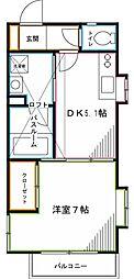 東京メトロ丸ノ内線 南阿佐ヶ谷駅 徒歩9分の賃貸アパート 1階1DKの間取り