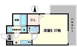 (仮称)モダンアパートメント江坂 4階1Kの間取り