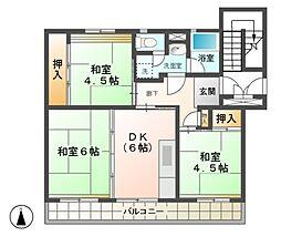 愛知県稲沢市朝府町の賃貸マンションの間取り