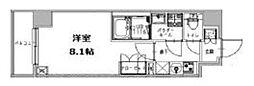 都営三田線 三田駅 徒歩5分の賃貸マンション 6階1Kの間取り