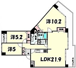 本山ロイヤルマンション[8階]の間取り